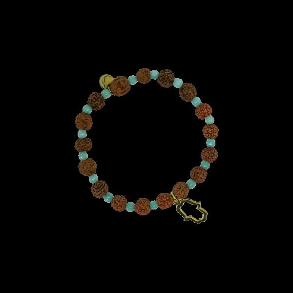 Spirit Yoga Mala-Armband Aquamarine