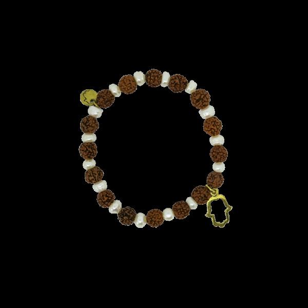 Spirit Yoga Mala-Armband Pearl