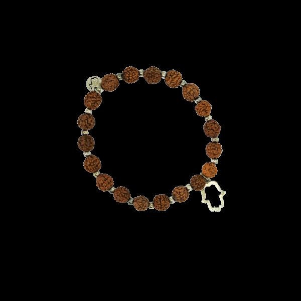Spirit Yoga Mala-Armband Silber