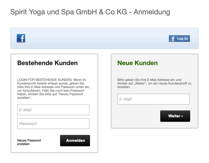 Spirit Yoga Berlin Online-Check-in