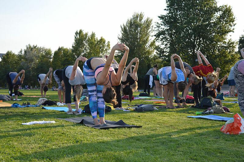 Spirit Yoga beim radioeins Parkfest 2018