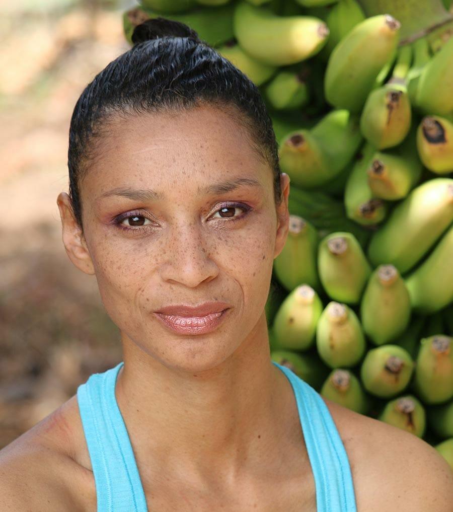 Yogalehrerin Gaelle Georges
